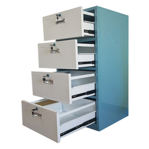 Anti-tilt Steel Cupboard Storage Metal Wooden File Cabinet Desk 4 Drawer Filing Cabinets Thailand