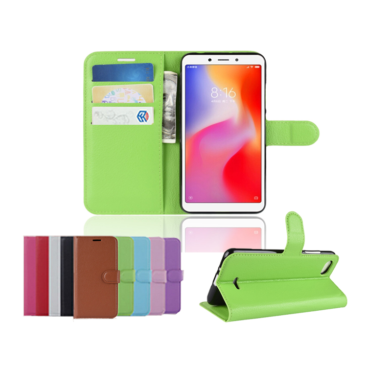 Hot Mobile Phone <strong>Accessory</strong> For Xiaomi Redmi 6A PU Leather Wallet Case