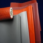 red grey silicone rubber coated glass fiber cloth fabric/High Temperature fabric