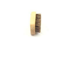Wooden horse hair beard brush for men