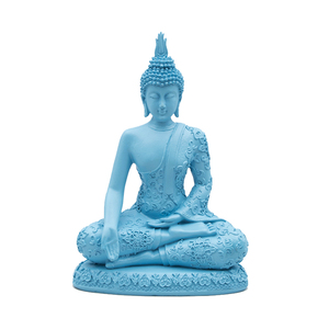 Modern resin blue stone crafts buddha statue for home decor