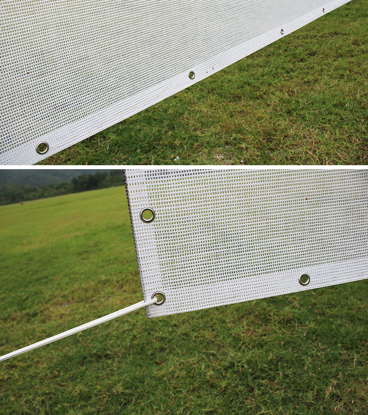 Custom Printing Wide Format Promo Advertising Fence Mesh Banner Sign Shade Cloth Banner