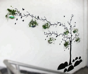 Huge Tree Shape Round Flower Box Aquarium Tank Fish Acrylic Wall Mounted Flower and Fish Tank