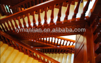 Red Oak Handrail/ Solid White Oak Wood Staircase Baluster