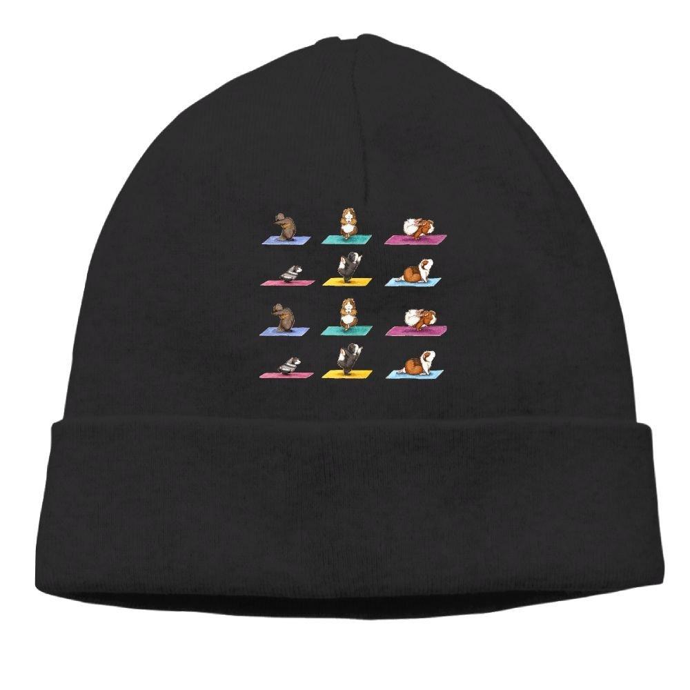 8e5d53a4a11 Get Quotations · Love Guinea Pig Yoga Unisex Warm Winter Hat Knit Skull  Beanie Slouchy Beanie Hat Cap