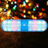 Hot Sell pill mini capsule portable wireless bluetooth usb speaker with led disco light, tf card, fm radio, 3.5mm aux
