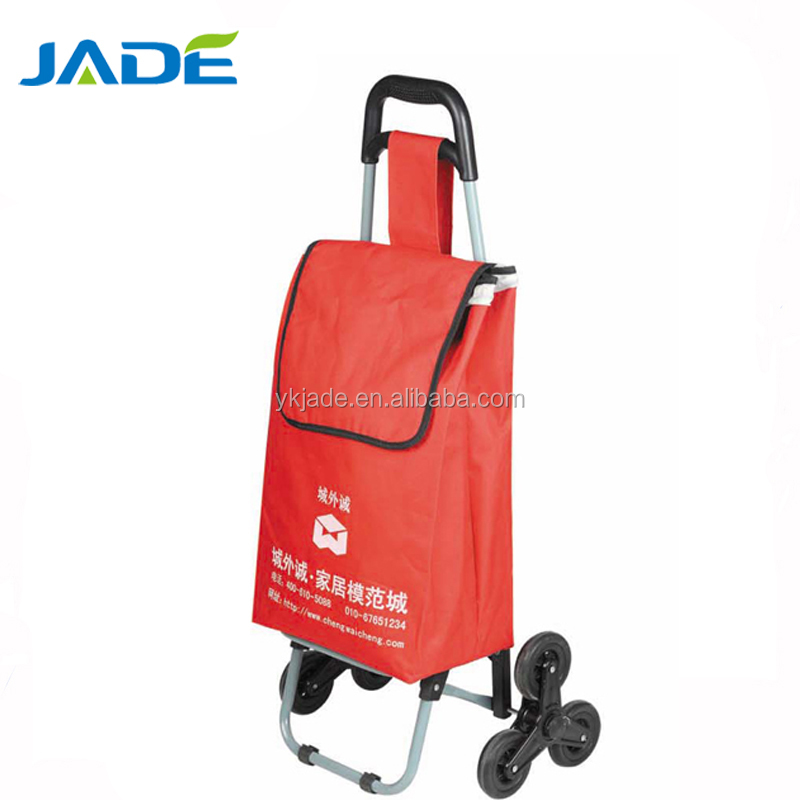shopping trolley aluminum 3 wheels airport baggage cargo cart fold up luggage cart 3 wheels vegetable shelf