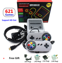 Wholesale 8Bit Built-in 621 Games TV Video Game Console 621 MINI Retro Game Console Classic HD Out Super 8 Bit System SFC Cheap