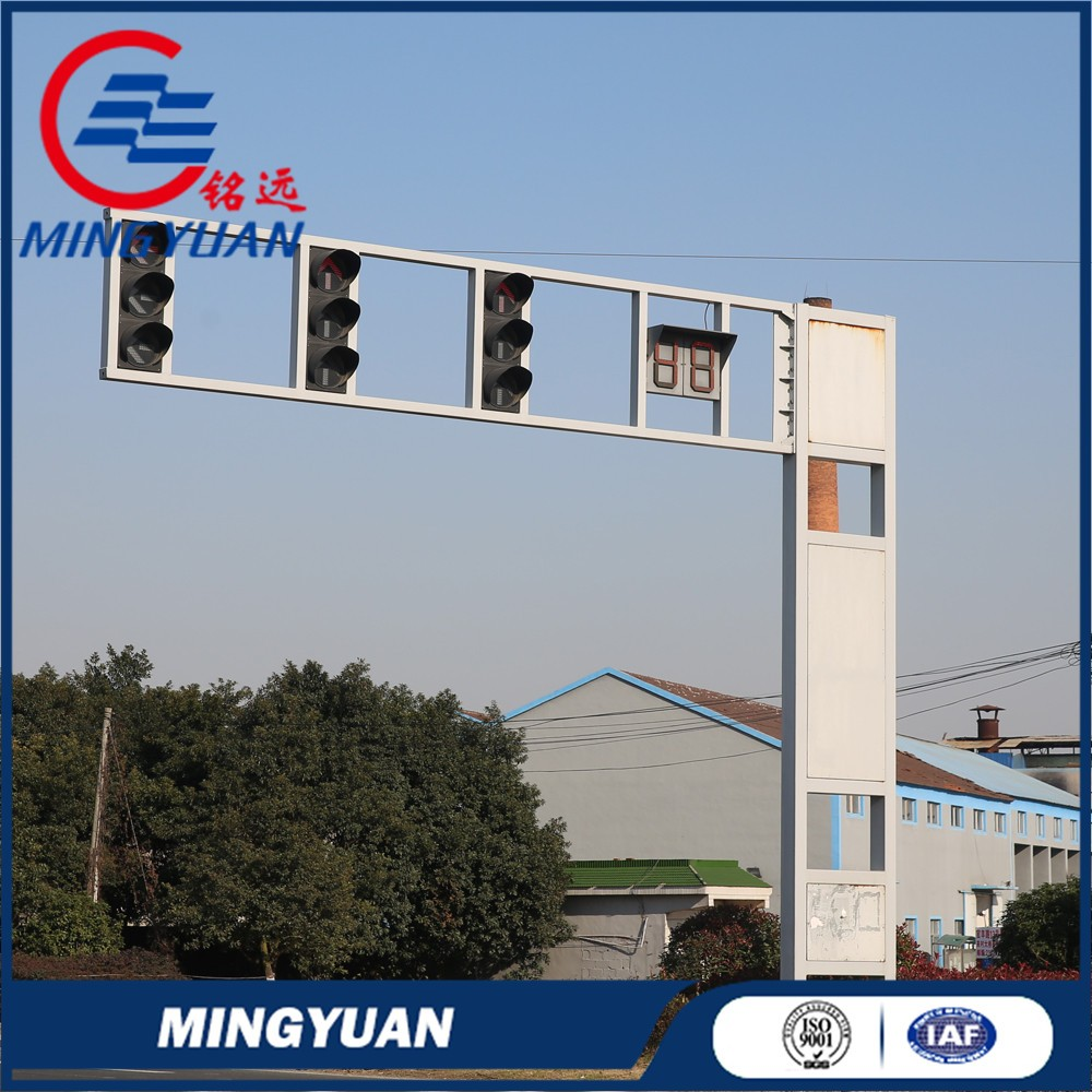 Special design promotional highway light poles traffic light poles
