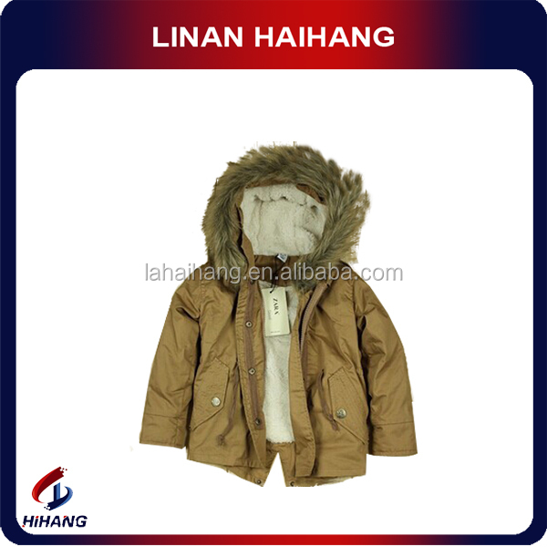 fur hood woven baby winter fashion clothes