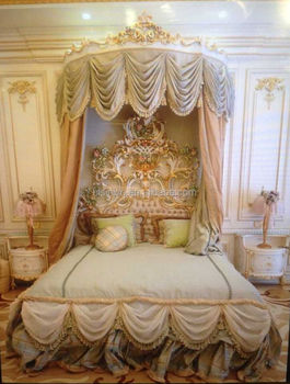 Royal European Palatial Bedroom Furniture,Luxury Floral Hand Painting  Canopy King Size Bedroom Set - Buy Palatial Bedroom Furniture,Floral Hand  ...