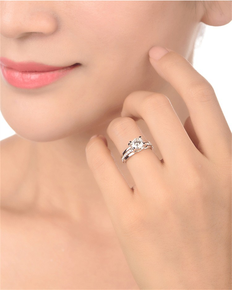 Fashion Wedding Ring For Women White Gold Plated Engagement Jewelry Accessories Classic Valentine Cheap Gift Bijouterie