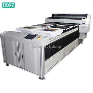 digital printing of silk fabric large flatbed textile printer for sale