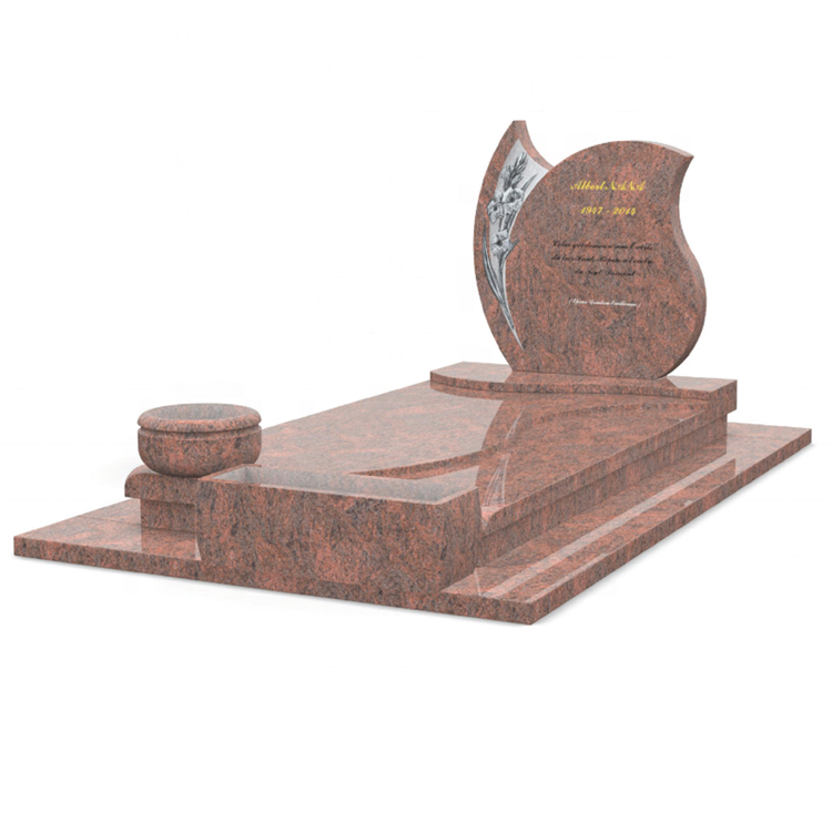 Chinese Custom Design Ledger Gravestone,Multicolor Red Granite Tombstone,Indian Grave Stone For Cemetery And Garden