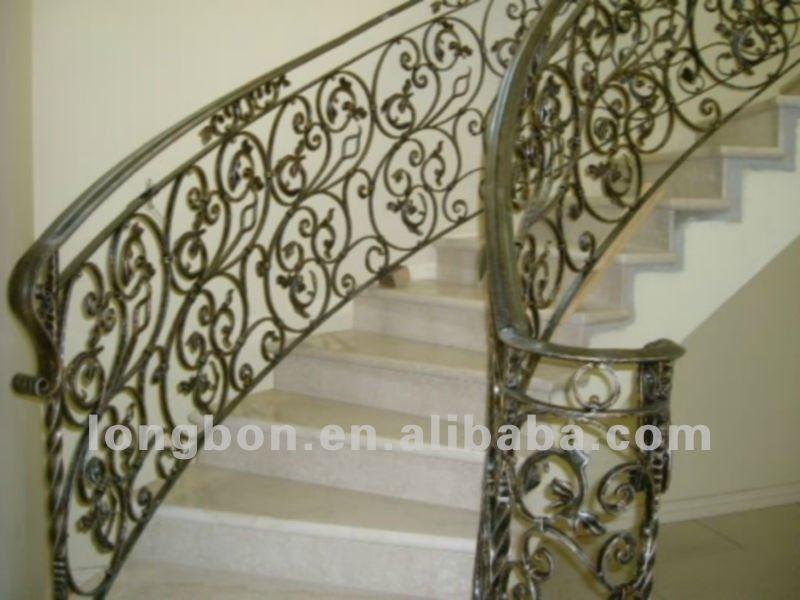 Top venta de forja a mano moderno escaleras pasamanos - Pasamanos de hierro forjado para escaleras ...