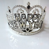 Cheap Plastic Happy New Year Tiara LP1019