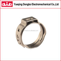 SS304 Stainless Steel Single Ear Clamp Adjusting Hose Clamp Rubber Clamp