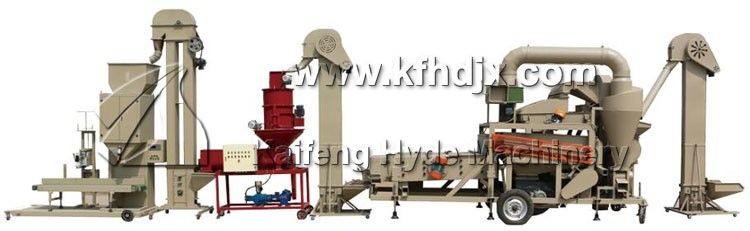 Hyde Machinery 5ZT barley seed processing production equipment