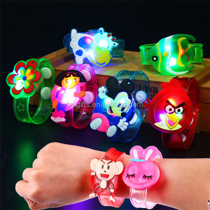 new arrive shaped kids flashing cheap led bracelet child wristband