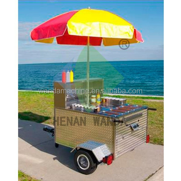 Mobile Hot Dog Snack sale food cart