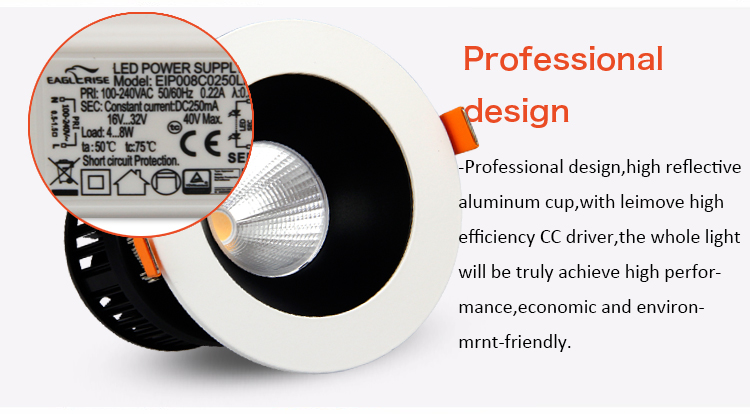 commercial illumination adjustable led downlights anti-dazzling white milky for wholesale-20