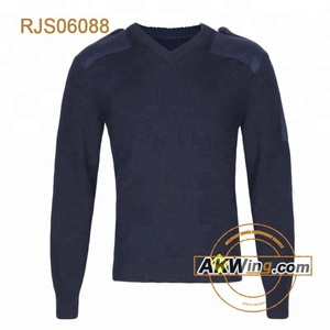 Navy Blue Commando Police Sweater 100% Wool special force tactical pullover