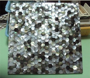 river shell& pen shell mixed shell mosaic tile/plate