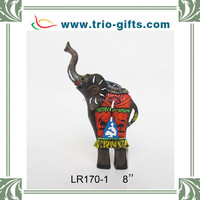 Souvenir poly resin decorative elephant figurines for sale