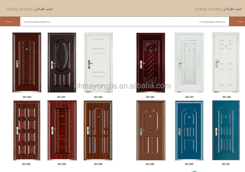 Steel Door Indian Main Door Designs Used Wrought Iron Door Gates ...
