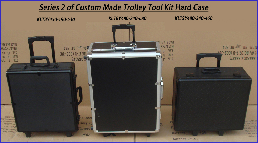 Telescopic Handle Trolley Train Case With Mirror And