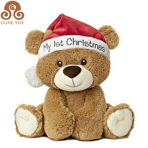 Wholesale Cheap Custom Christmas Dog teddy bear Plush Toy