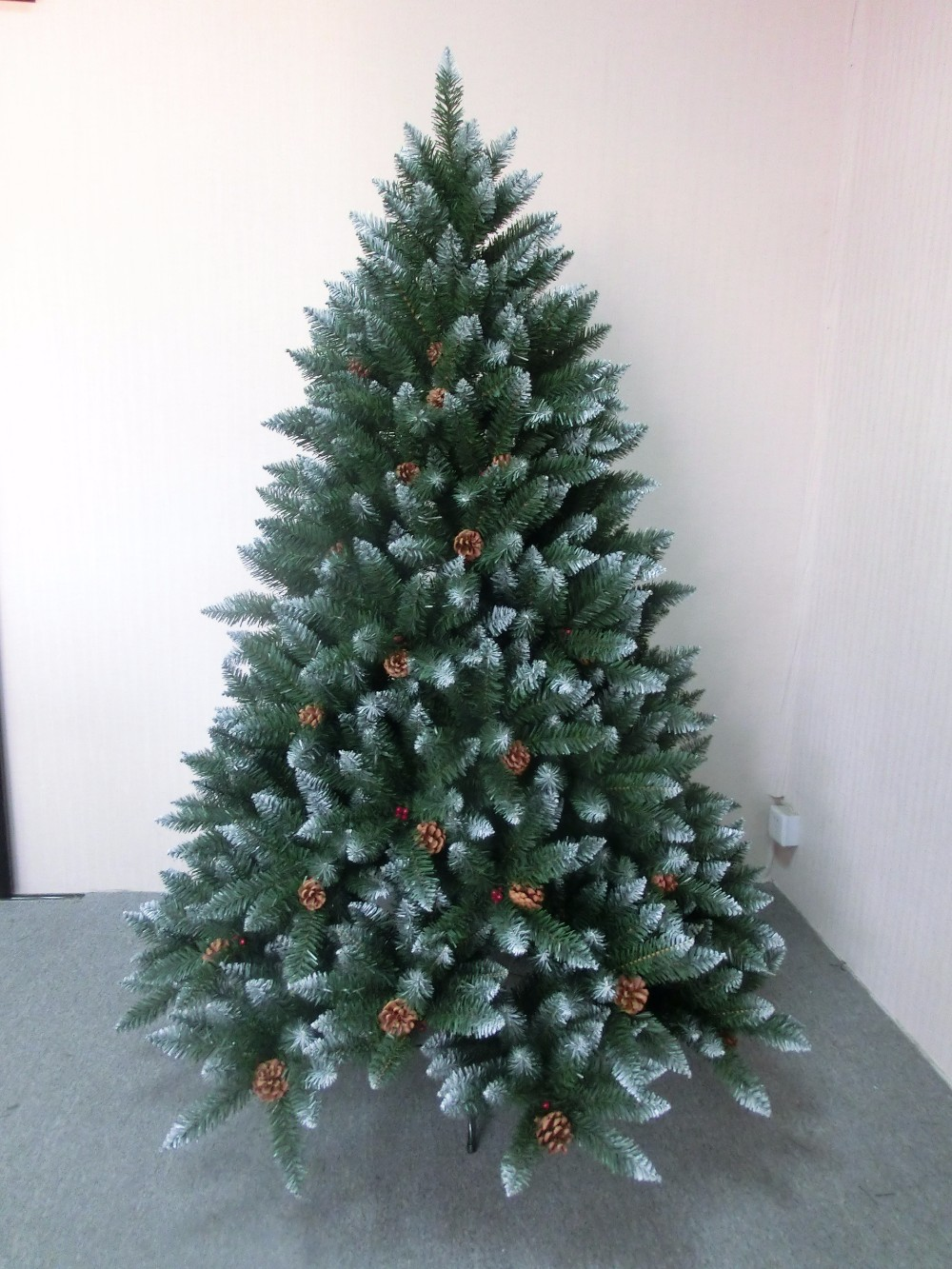 hot selling artificial fiber optic spiral christmas tree - Outdoor Artificial Christmas Trees