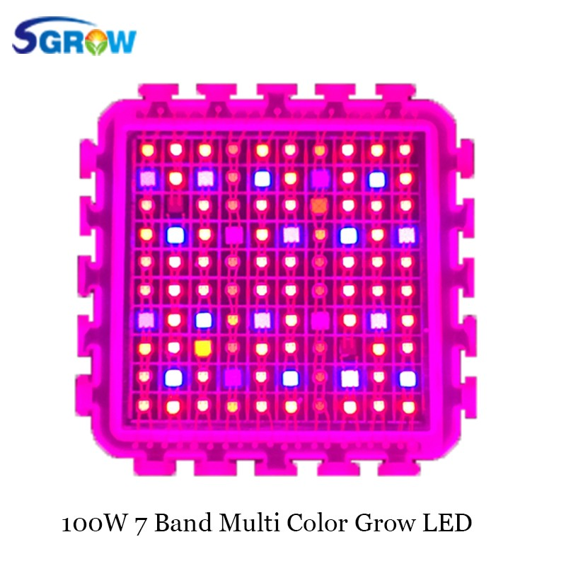Factory Price Best Selling Wholesale Products 100 watt High Power COB LED Grow Light Chips,multi color 7 band for veg and bloom