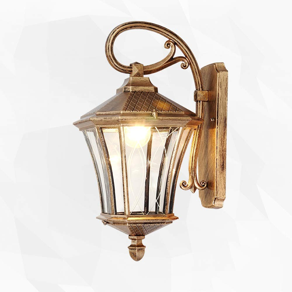 Traditional Classical Upside Down Outdoor Wall Lantern Retro Rustic Security IP65 Waterproof Wall Sconce Light Rust-Resistant Aluminum Glass Aisle Patio Wall Lamp Garden Outside Wall Spotlights