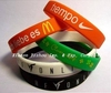 BPA Free Cheap Silicone Rubber Bracelet For Promotion Gift