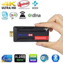 MK809 4K Ultra HD TV Stick Dongle RK3288 2GB 8GB HDMI USB Mini PC Android 4.4 Streaming Media Player Supports WiFi Bluetooth