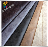 Fashion suede sofa fabric/ polyester sofa fabric with T/C backing