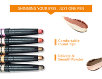 OEM Images makeup products Colorful eye shadow beauty eye silkworm pen