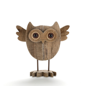 Handcrafted Wooden Driftwood Owl Art for Home Decor