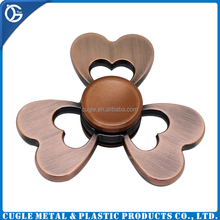 Newest Style zinc alloy flower high quality metal wind spinner