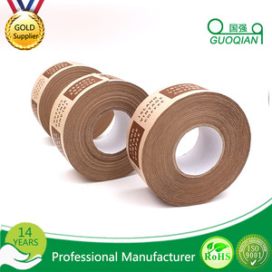 "Water Activated custom printed logo Paper Kraft Masking Tape rolls 2"" x 60 yds"