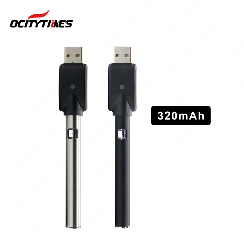 Ocitytimes S3 variable voltage ecig Preheat Slim Pen Battery 510 thread battery