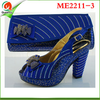 ME2211-3 Royal Blue African Shoes And Bags / Italian Party Shoes And Bags