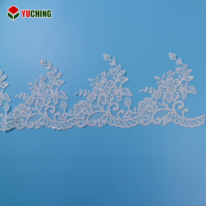 Cotton net cloth trim fabric border embroidery lace trimming for dress