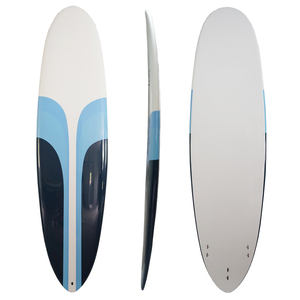 6.6ft White Blue Color EPS Foam Longboard Surfboard Surfing Board