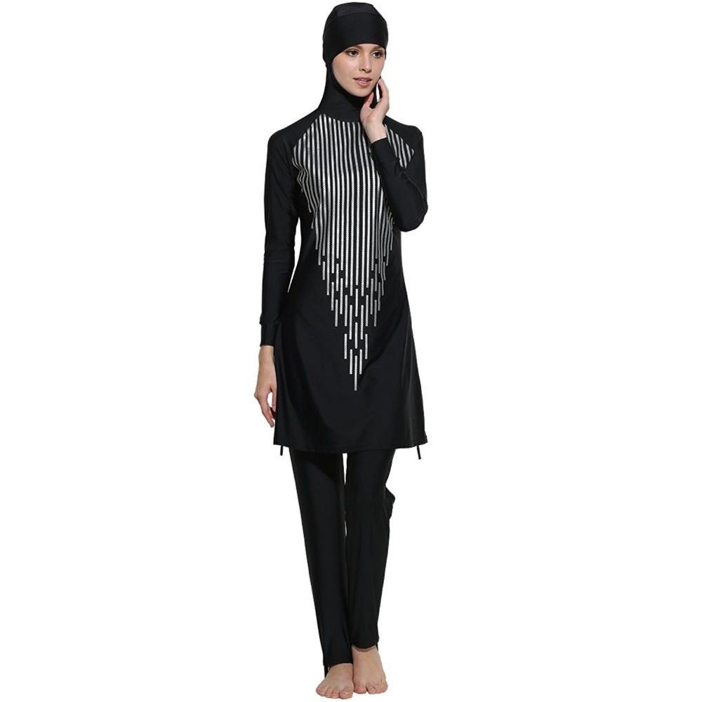 7be7f5d3140c17 Musulmano Costume Da Bagno 2017 Hijab Islamico Modesto Costume Da Bagno per  Le Donne