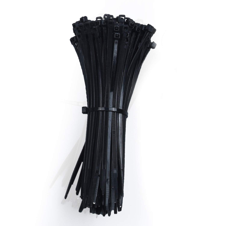 "50lb Pack of 100pcs 4.8mm x 8"" Black Nylon Cable Tie Zip Heavy Duty"