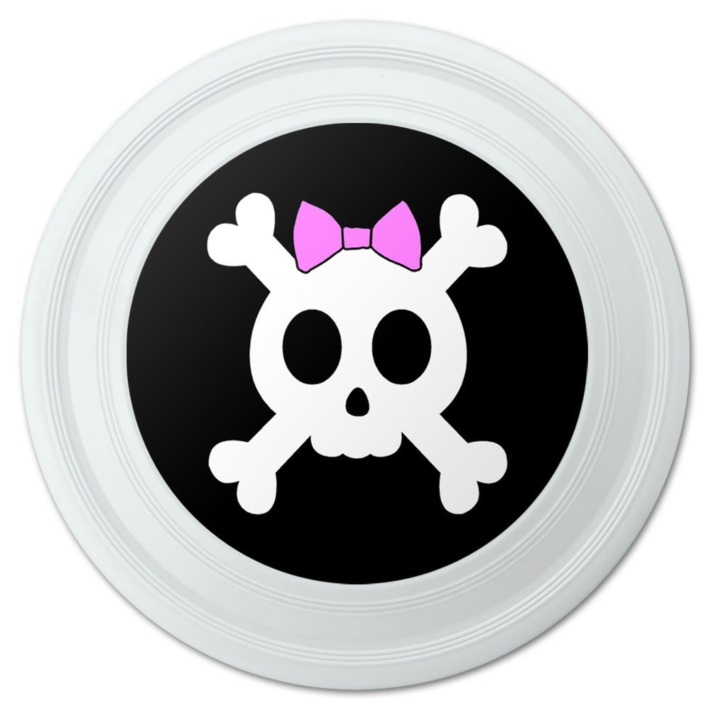 Bicycle Handlebar Bike Bell Girly Skull And Crossbones With Hairbow