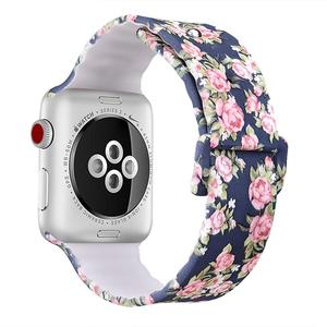 Custom Make Pattern Printing Silicone Rubber Strap For Apple Watch Bands 42mm, for Apple iWatch 38mm