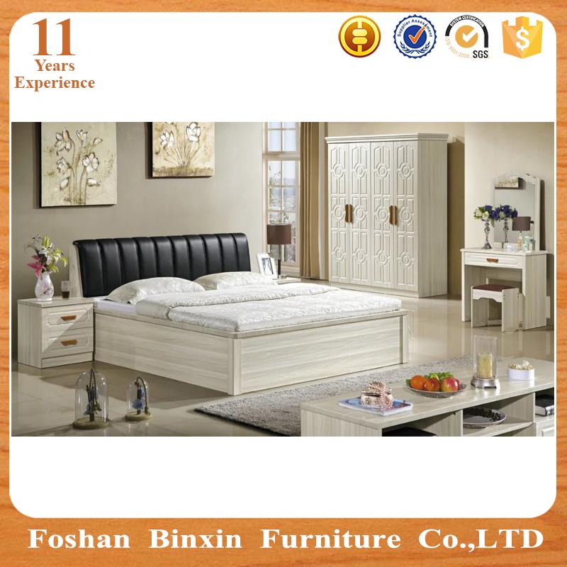 Chambre complete en bois moderne for Acheter chambre a coucher